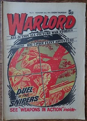 #6 WARLORD COMIC. 2nd NOVEMBER 1974. EARLY EDITION.