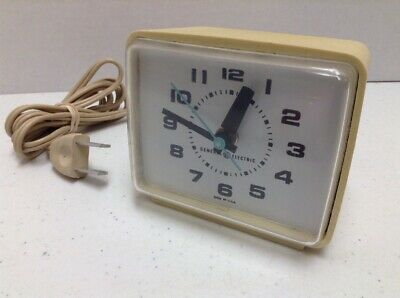 Vintage General Electric Small Electric Alarm Clock Model #7369A Made in USA