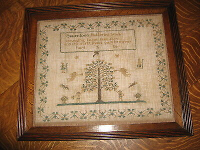 Antique Early/Mid-19th Century Sampler - c.1845