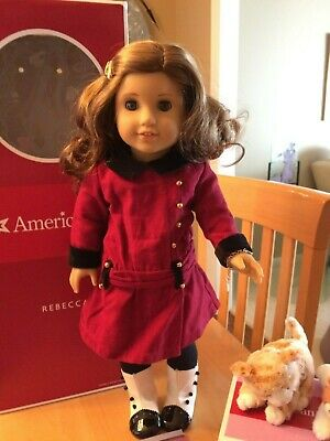"American Girl Rebecca Meet Barrette Gold Hair Clip For 18"" Doll HTF Accessory"