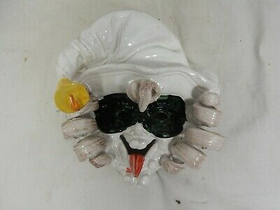 Beautiful pottery wall mask Commedia dell`arte ITALY Perseo#San Polo#Morini Nr.2