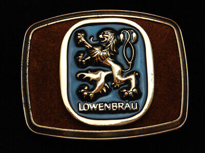 Pi13154 *Nos* Vintage 1982 **Lowenbrau** Beer Brewing Co. Belt Buckle