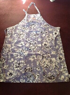 New Cath Kidston 100% Cotton Apron Etched Floral - Full Apron with Pockets