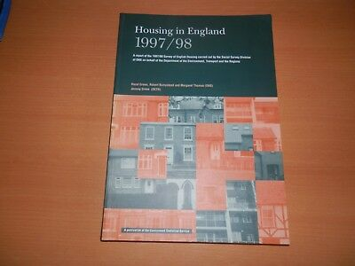 Housing in England 1997 1998 Statistics The Stationery Office UK Property