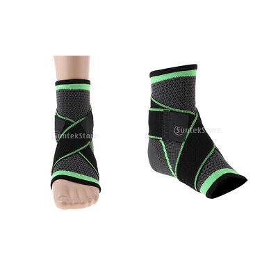 2x Ankle Support Breathable Brace Ankle Foot Sprain Protector for Men Women