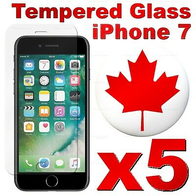 Premium Tempered Glass Screen Protector For iPhone 7 | iPhone 7 PLUS (5 PACK)
