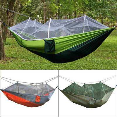 Double Outdoor Person Travel Camping Tent Hanging Hammock Bed W/ Mosquito Net