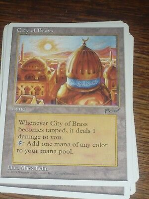 MTG Magic the Gathering CITY OF BRASS Chronicles US RARE TOP condition
