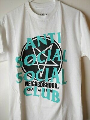 7725574d2c90 ASSC Anti Social Social Club x NEIGHBORHOOD White Filth Fury Tee (USED)  Size M