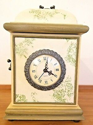 Von Pok And Chang Mantel Clock With Hidden Compartment - Rare