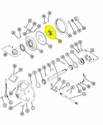 Oem Case A10453 Pto Clutch Hub Plate 24T For Power Units