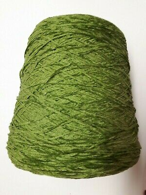 Part used Chenille 1kg Acrylic 4 ply Cones weighing between - 500g & 800g gross