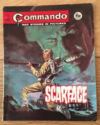 Commando Comic # 682 Scarface, Published  1972, Very Good Condition, Free P&P.