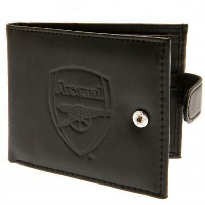 Arsenal Fc Rfid Anti Fruad Embossed Leather Wallet - Official Executive Gift