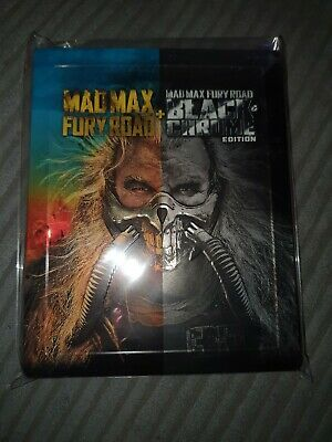 Mad Max Fury Road and Black & Chrome Edition Steelbook (BLU RAY) UK Sealed