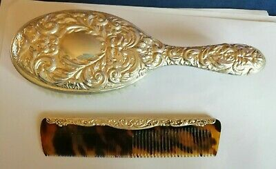 1964 Sterling silver backed hair brush and comb in original box