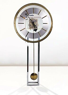 George Nelson For Howard Miller Lucite, Chrome And Brass Wall Clock