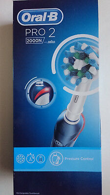 Oral-B PRO 2000N- CrossAction Electric Toothbrush Rechargeable by Braun