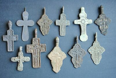 Ancient crosses Metal detector finds. MIX finds LOT 100% ORIGINAL