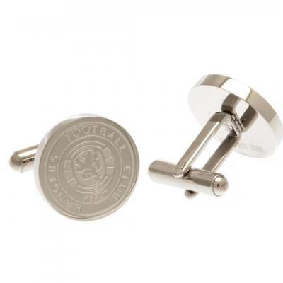 Glasgow Rangers Fc Stainless Steel Crest Cufflink - Official Gift