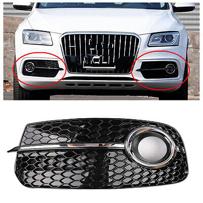 Left SQ5 Style Fog Light Grill Grille For AUDI Q5 13-17 Don't Fit SQ5 & SLINE B2