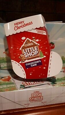 Coles Little Shop Mini Christmas Edition of 5 with Case full set