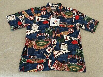 5f199b9a NWT Reyn Spooner MLB Los Angeles Angels Anaheim Hawaiian Aloha Shirt Mens  Medium
