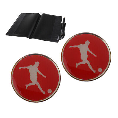 FOOTBALL/SOCCER REFEREE GAME Flip/Toss Coin with Plastic