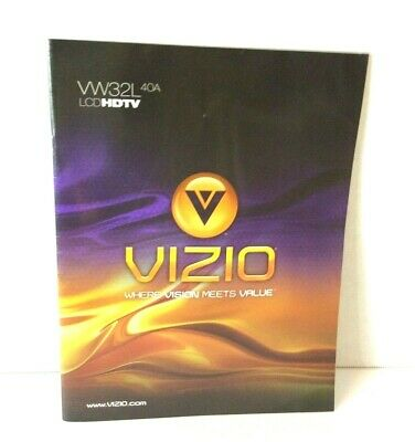 VIZIO Manual 2008 VW32L HDTV40A Users Guide 32Inch Operators Instruction
