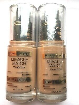 MAX FACTOR Miracle Match Foundation Blur & Nourish 30ml -VARIOUS USE DROP MENU