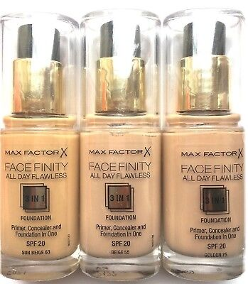 MAX FACTOR FaceFinity All Day Flawless Foundation 30ml  - Please Choose Shade: