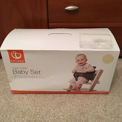 Brand New Stokke Tripp Trapp Baby Set With Gliders Natural *free postage*