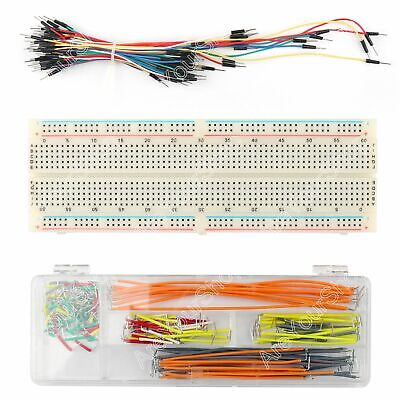 830 Tie Points Solderless PCB Breadboard MB102+ 65Pcs+140Pcs Jump Cable Wires B2
