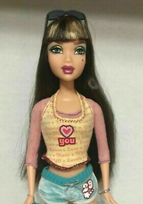 Barbie My Scene Hanging Out Delancey Doll Green Eye Highlighted Hair Bangs