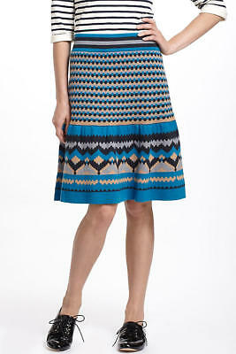 NEW Anthropologie Girls From Savoy Blue Mesa Sweater Skirt Size Large L NWT $128