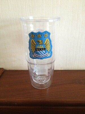 Manchester City Official Football Club Large Patch Tumbler Mechandise Gift