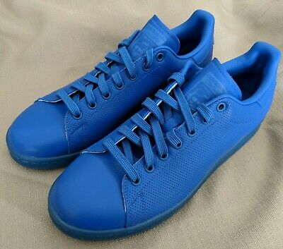 outlet store bd5f0 a3483 NEW Adidas Mens Blue Leather Adicolor Originals Stan Smith Shoes Casual  Tennis
