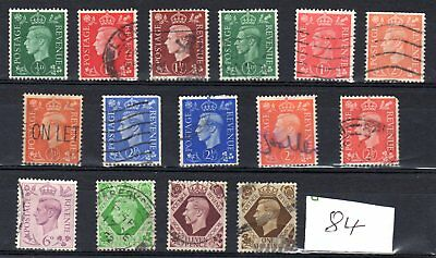 A collection of King George Vi stamps , #84,1939/1951.