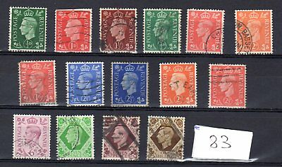A collection of King George Vi stamps , #83,1939/1951.
