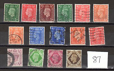 A collection of King George Vi  stamps .#87,1939/1951.