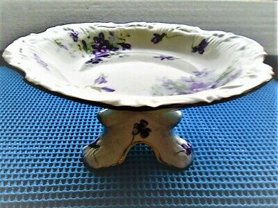 Vintage Hammersley  Victorian Violets from England's Countryside Footed Dish