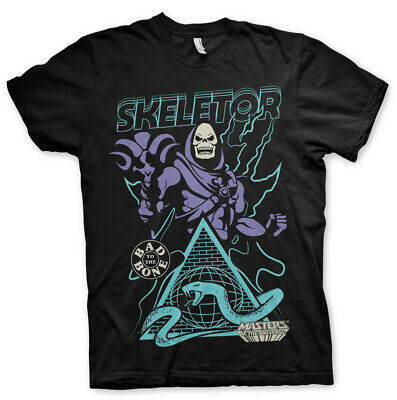 Skeletor Bad to the Bone He-Man Masters of the Universe Black Mens T-shirt