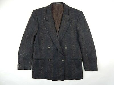 Vintage Clappers Double Breasted Peak Lapel Sport Coat Blazer Wool Cashmere 40 R