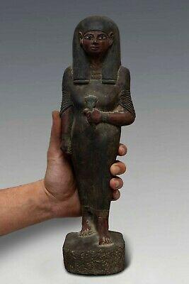 Rare ANCIENT EGYPT EGYPTIAN ANTIQUE Queen Nakhtmin STATUE GODDESS Stone 1300 BC