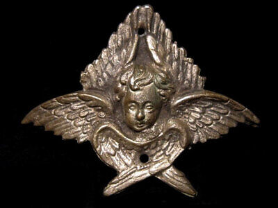 Very Rare Post Byzantine Silver Religious Angel Mount Decoration-Applique+++