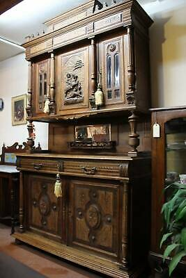 A Stunning Tall Oak French Provincial Double Bodied Sideboard