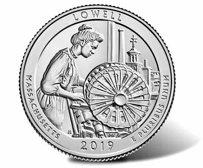 (2) UNC 2019 D Lowell National Park Quarter Massachusetts