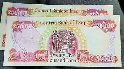 1 - 25000 IRAQI DINAR IQD Banknote Circulated Authentic $25. Shipped with...
