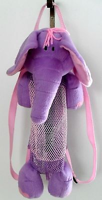 *Purple/ Pink Elephant Zipper  Mesh Backpack  Kids Travelling Nature Zoo Animals