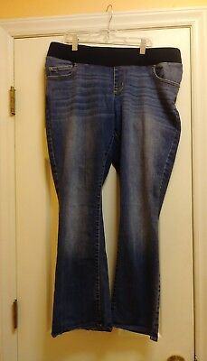 2b8c54796a9a6 Liz Lange Maternity Women's Jeans Size 12 Bootcut Denim Medium Wash  Sandblasted